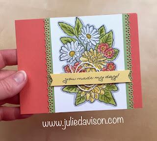 Stampin' Up! Ornate Garden Suite: Ornate Style Spring Flowers Card  ~ Stampin' Blends ~ www.juliedavison.com #stampinup #ornategarden