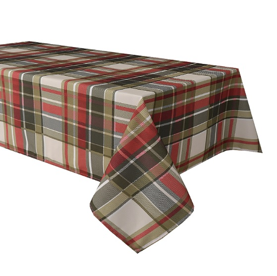 Plaid tablecloths at The Camellia