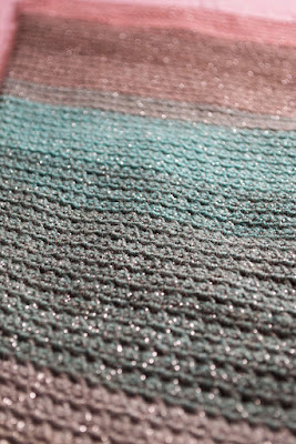 Cuello de ganchillo lana Silver Paint