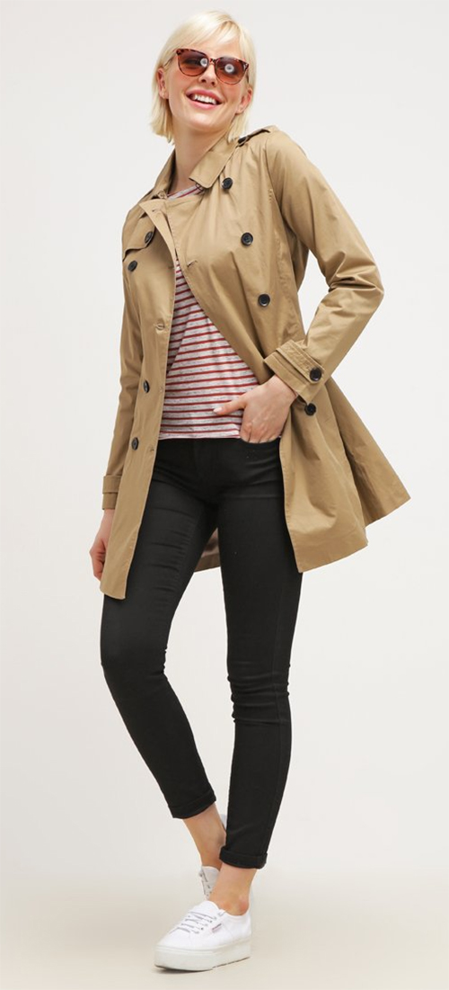 Trench coat beige Cortefiel