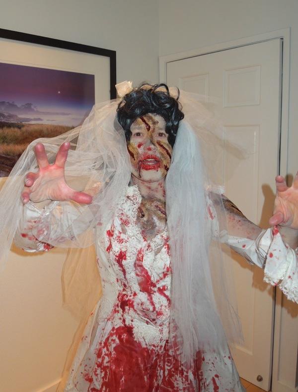 Halloween Zombie Bride costume