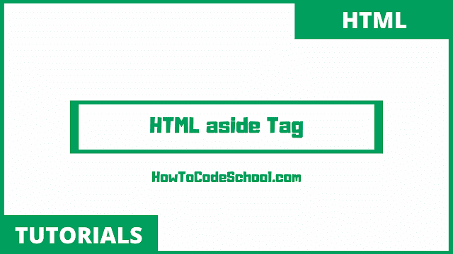 HTML aside Tag