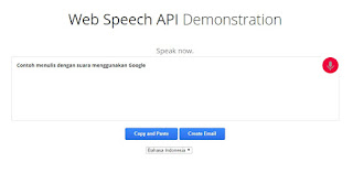 Web Speech API , Speech To Text Bahasa Indonesia Gratis