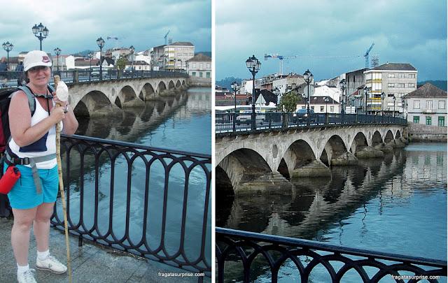 Ponte O Burgo em Pontevedra, no Caminho de Santiago
