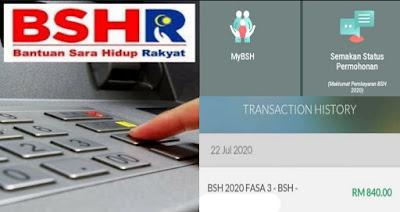Semakan Status Permohonan BSH 2020 Fasa 3 Online (Bantuan Sara Hidup)