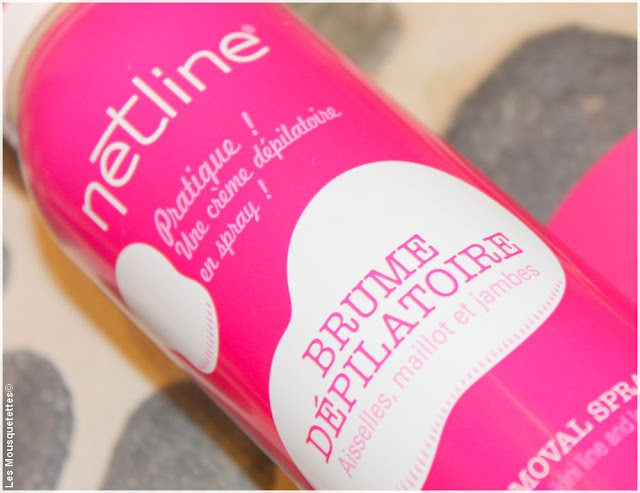 Brume dépilatoire Netline avis - Blog beauté Les Mousquetettes©