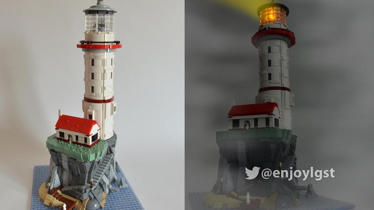 レゴアイデアで『光って回るパワード灯台』が製品化レビュー進出!2020年第3回1万サポート獲得デザイン紹介