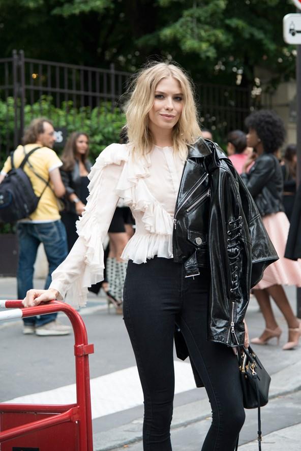 Street Style + Elena Perminova + PFW
