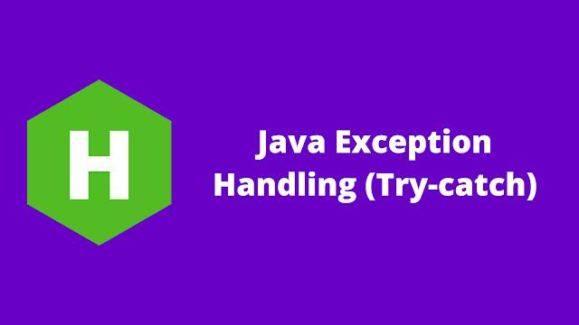 HackerRank Java Exception Handling (Try-catch) problem solution