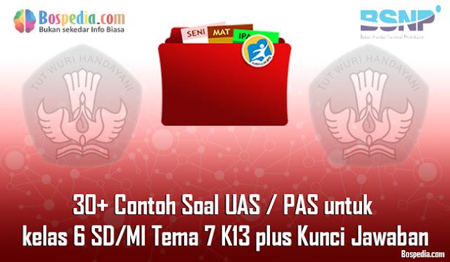 30+ Contoh Soal UAS / PAS untuk kelas 6 SD/MI Tema 7 K13 plus Kunci Jawaban