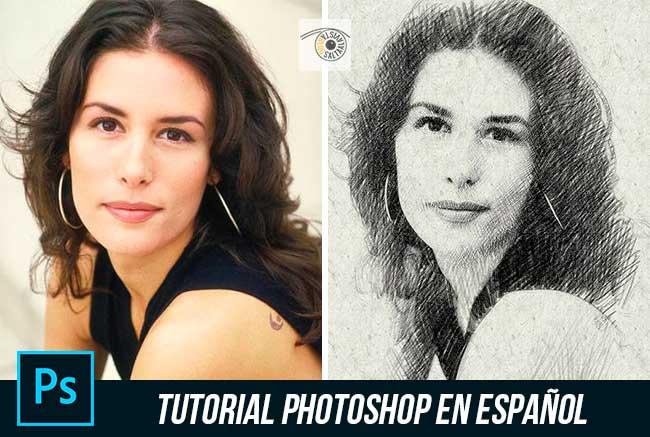 Tutorial de Photoshop Cómo Convertir una Fotografía en un Dibujo a Lápiz