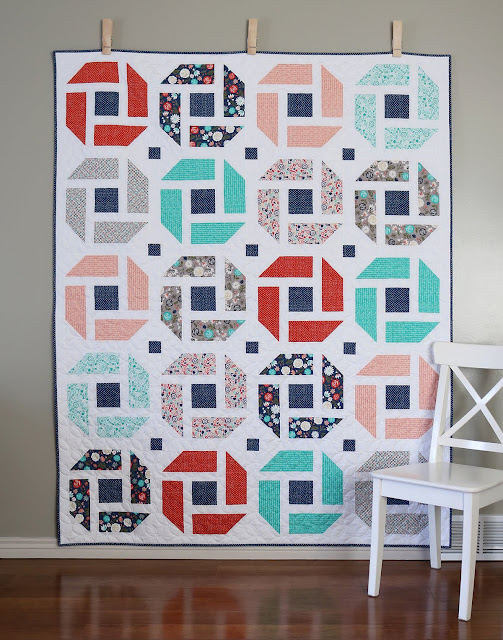 Cheerful - a fresh, modern, fat quarter quilt pattern from A Bright Corner