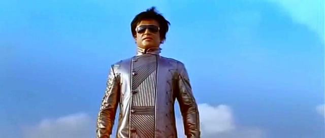 Rajnikanth as Chitti in Ra.One