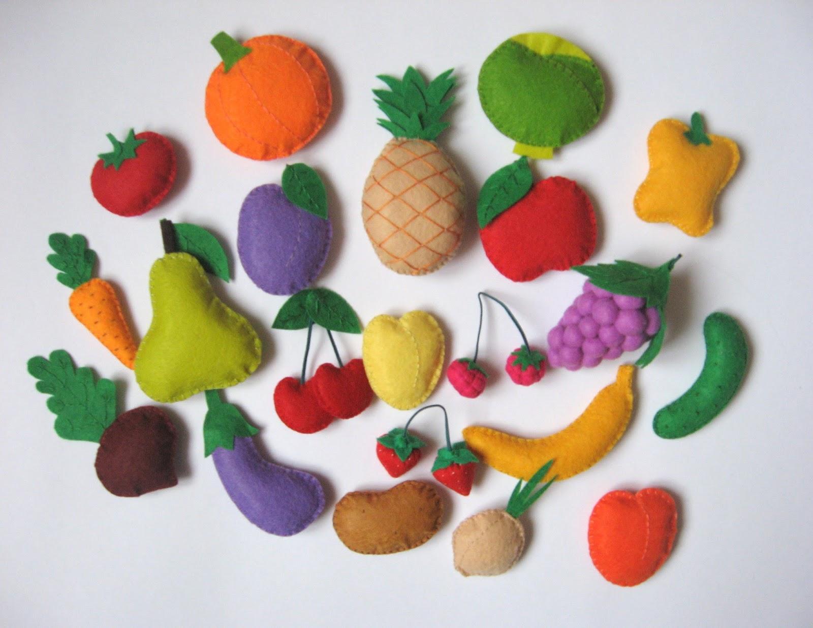Овощи из фетра своими руками