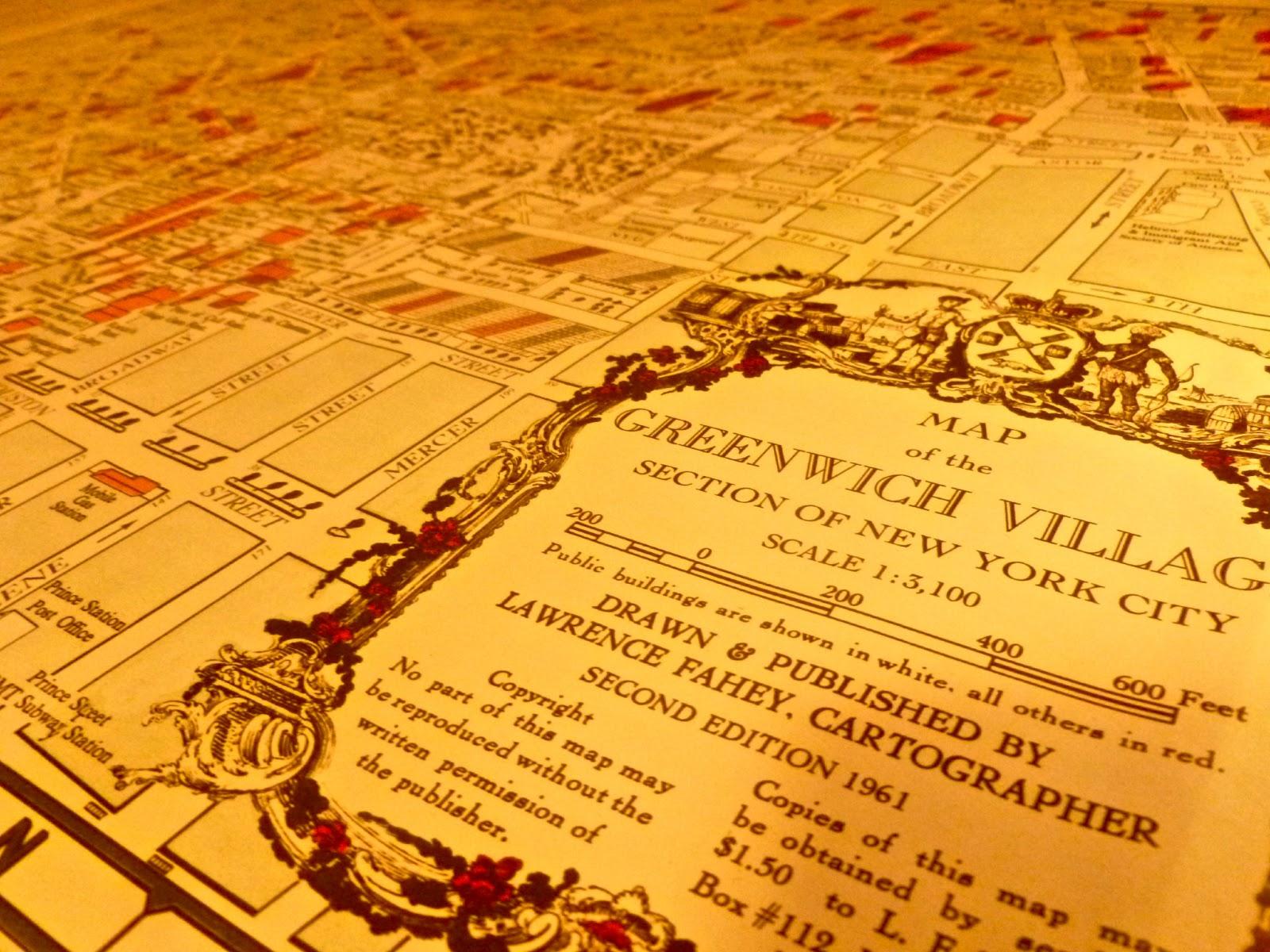 Subway Map Greenwich Village.Jeremiah S Vanishing New York 1961 Village Map