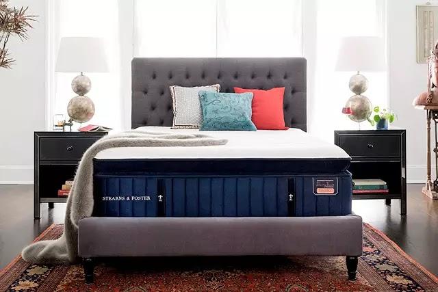 Amerika'nın lüks yatak markalarından Stearns and Foster'ın Reserve Hepburn Luxury Plush Euro Pillow Top modeli dünyanın en pahalı yataklarından biri.