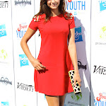 NINA DOBREV HOT STILLS IN RED DRESS