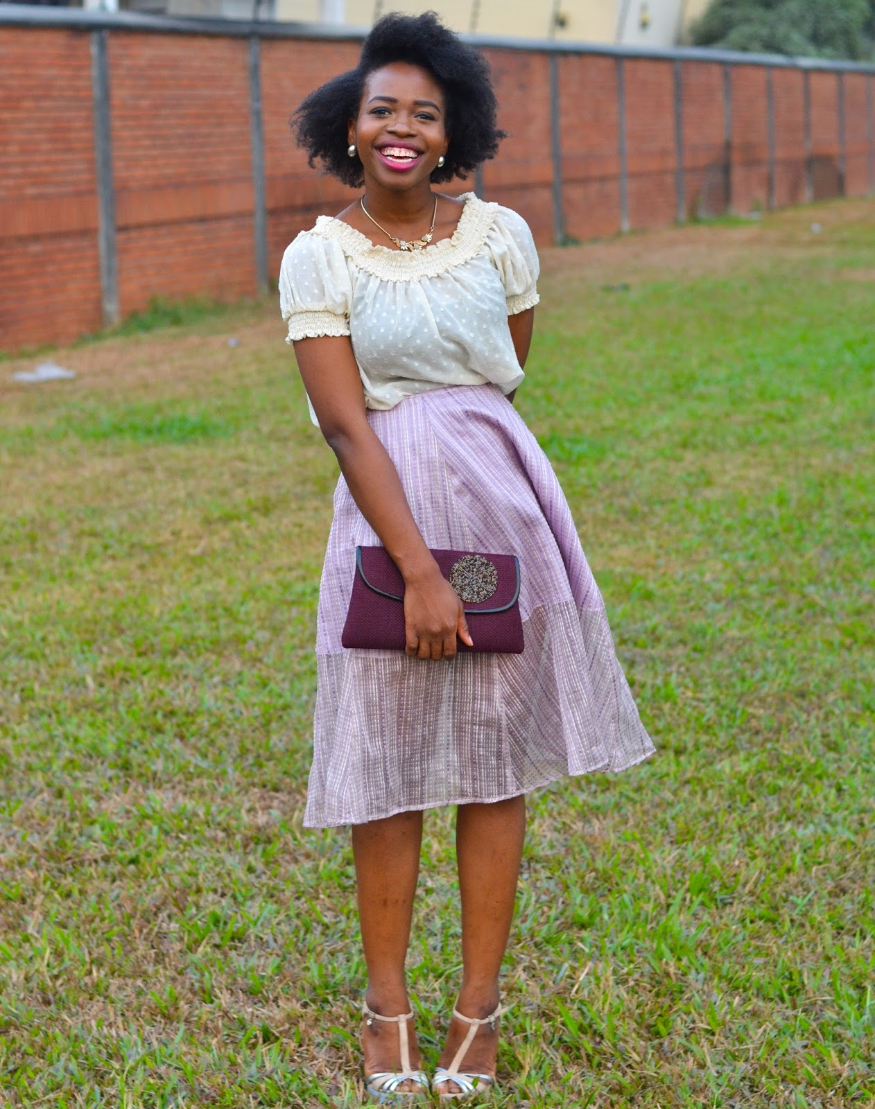 Afro & Flared Lilac Skirt