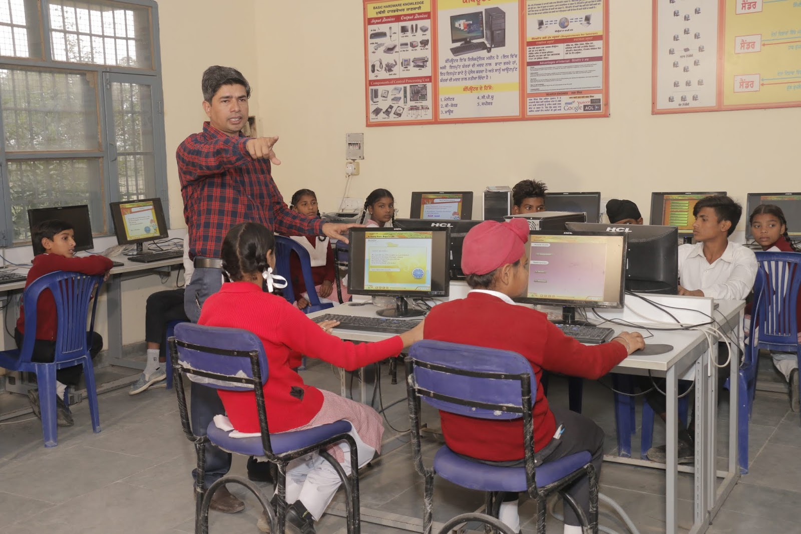Teaching in ICT lab with E-Content