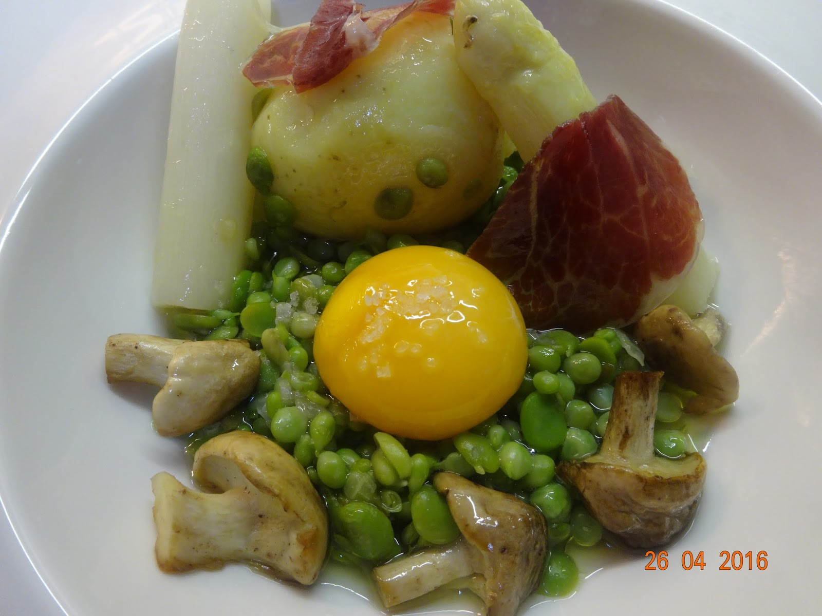 Cocinar es un sentimiento guisantes lagrima habitas for Cocinar yema de huevo