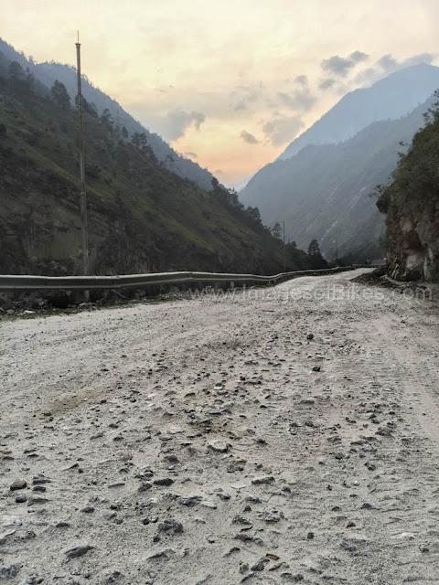 bad road spiti valley