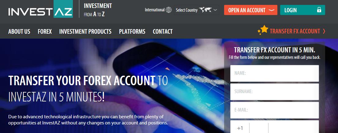 Мошеннический сайт invest-az.com – Отзывы, развод. Компания InvestAZ мошенники