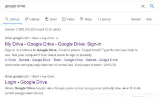 cara menggunakan google drive di laptop