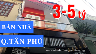 Bán nhà quận Tân Phú từ 3 tỷ đến dưới 5 tỷ 2019