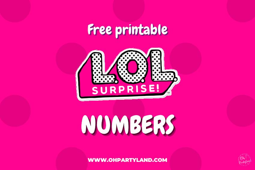 Free printable LOL Surprise Numbers