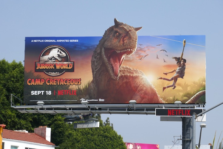 Jurassic World Camp Cretaceous series billboard