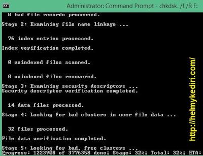 Menggunakan command prompt (CMD)