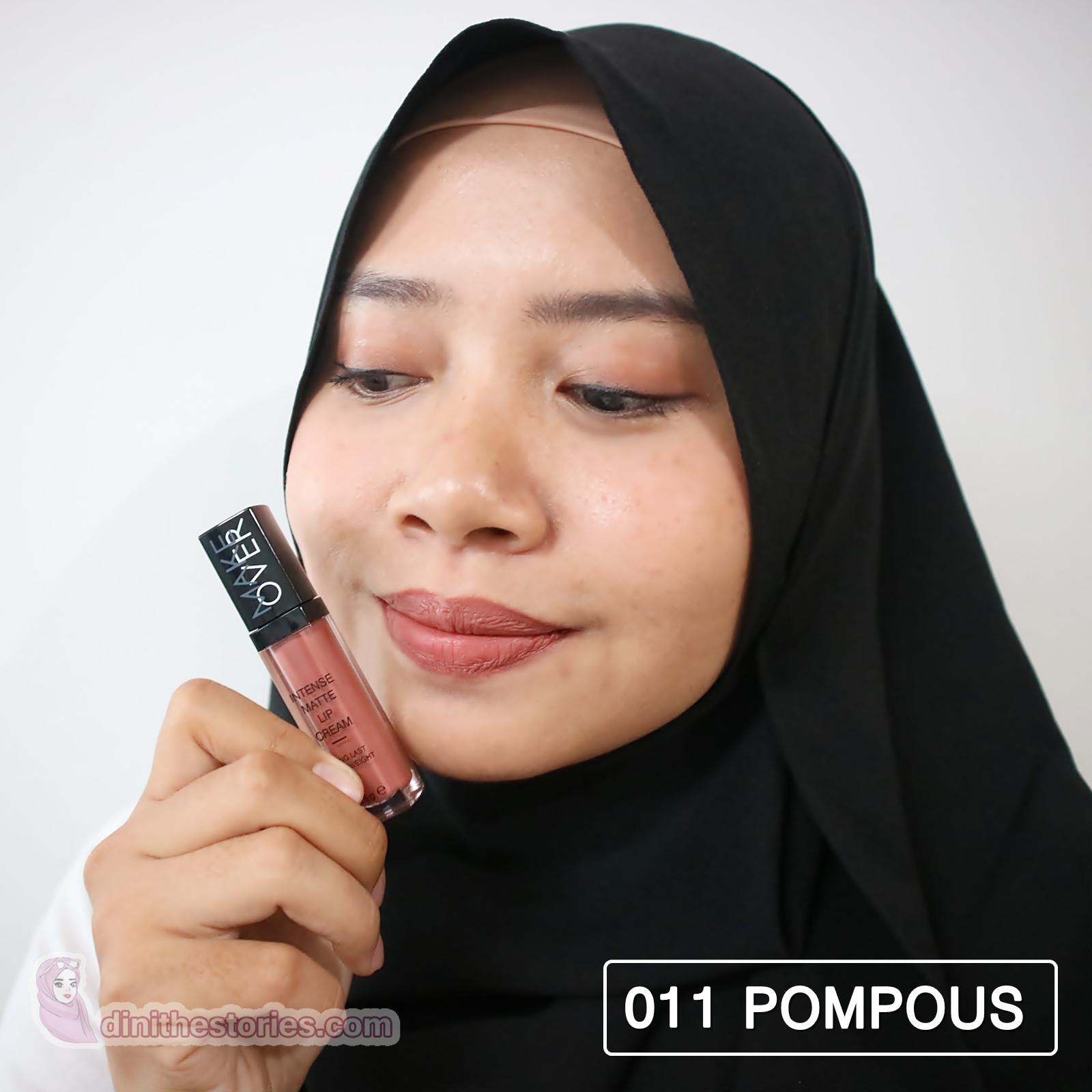 Make Over Intense Matte Lip Cream New Shades Review Swatch Dini Makeover Lipstick Lipstik 011 Pompous
