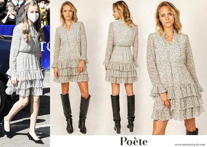 Crown Princess Leonor wore Poeta Mirta Print Dress
