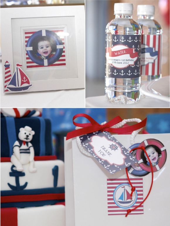 A 1st Birthday Nautical Party - BirdsParty.com