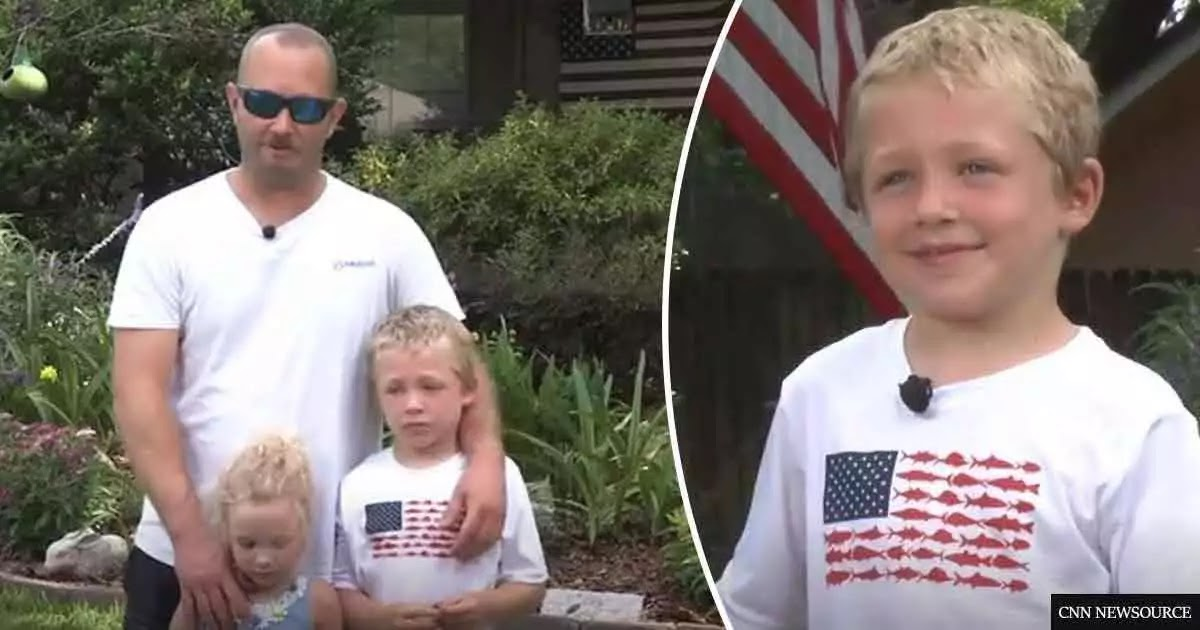 7-Year-Old Boy Swims An Hour To Save His Father And Little Sister