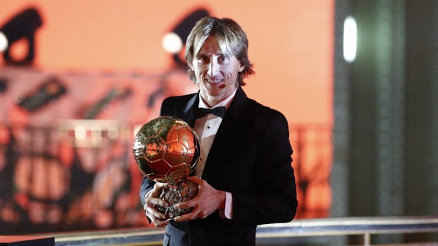 Luka Modrid wins 2018 Ballon D'Or