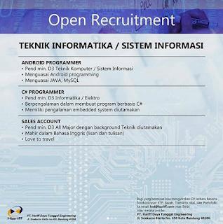 Gaji Loker Lowongan Kerja PT Hariff Daya Tunggal Engineering Bandung 2019
