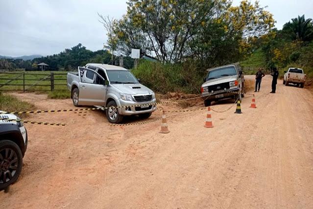 Avô e neta são assassinados por disparos de arma de fogo na zona rural