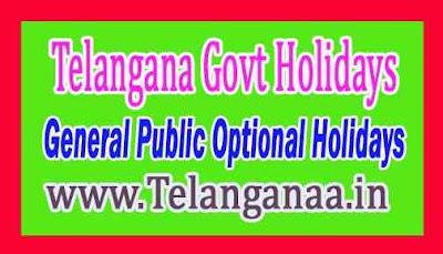 Telangana State Govt  Holidays List 2019 Telangana Govt General Public Optional Holidays
