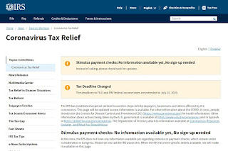 Coronavirus Tax Relief (https://www.irs.gov/coronavirus) page on IRS.gov