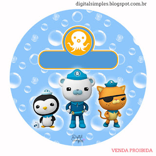 Octonauts Toppers or Free Printable Candy Bar  Labels.