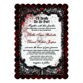 Blood Splattered Wedding Invite
