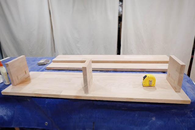 oak lumber cabinet wall mount floating shelf top