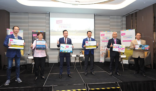 (From L-R) a.  Nigel Wong, Honorary Secretary General of Malaysian Association of Tour and Travel Agents (MATTA) b. Dato' Angie Ng, President of Malaysia Inbound Chinese Association (MICA) c. Mr Ooi Chok Yan, CEO of Penang Global Tourism d. YB Yeoh Soon Hin, Penang State EXCO for Tourism, Arts, Culture & Heritage (PETACH) e. Dato' Albert Tan of  National President, Malaysian Chinese Tourism Association (MCTA) f. Tan Sri Richard Koh, Member of Association of Tourism Attractions Penang (ATAP) and Founder & CEO of Only World Group