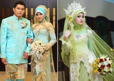 Contoh baju kebaya pengantin muslim terbaru