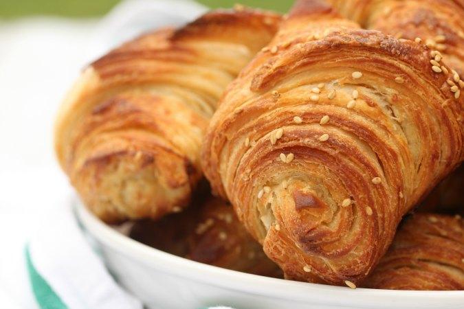 Pretzel Croissants with layers