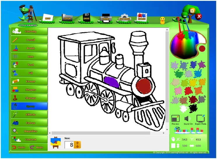 Little Painter :  Δωρεάν πρόγραμμα ζωγραφικής για παιδιά