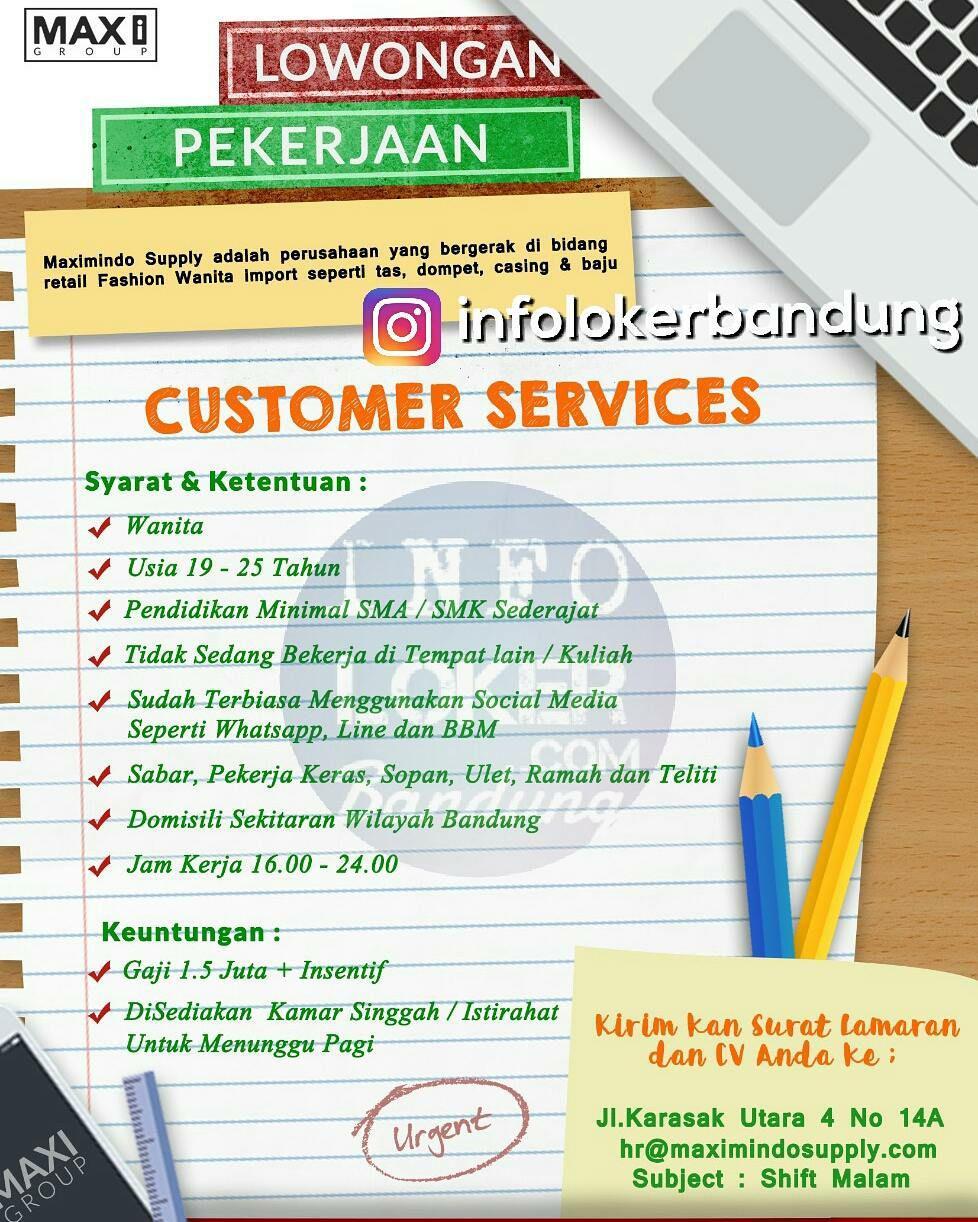 Lowongan Kerja Customer Service Online Maxi Group width=