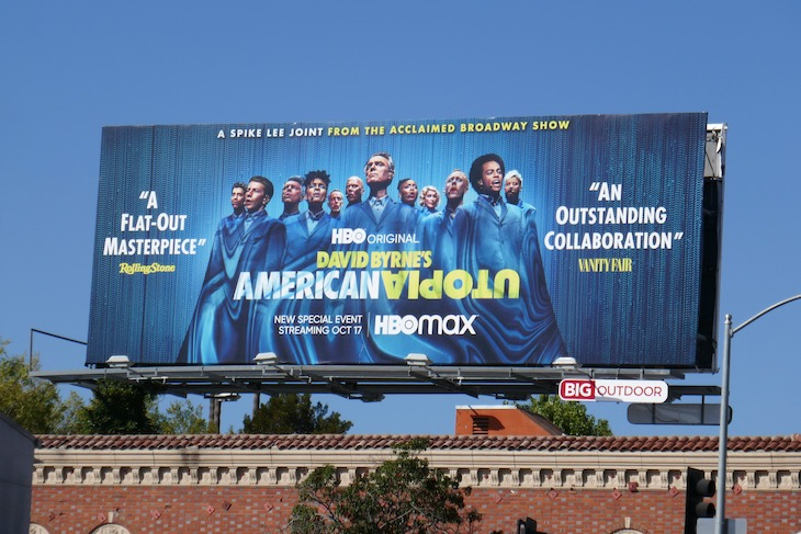 David Byrne American Utopia billboard