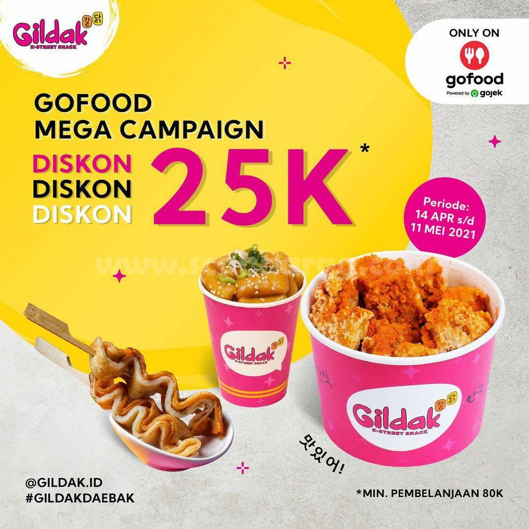 GILDAK Promo GOFOOD Mega Campaign DISKON hingga Rp 25.000